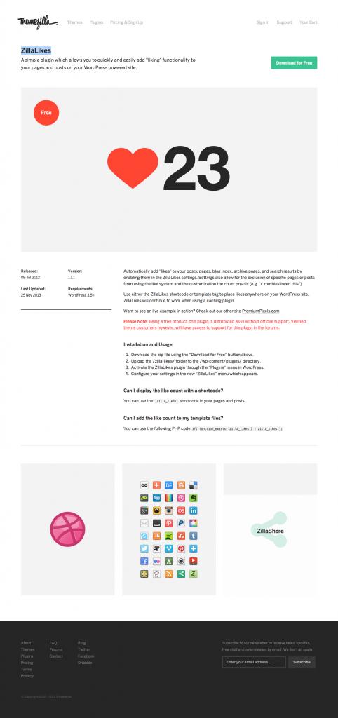 ZillaLikes Free Likes WordPress Plugin ThemeZilla